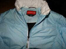 MERRELL womens medium pale blue zip front lined padded jacket coat perfect