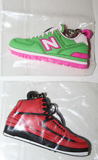 2x New Balance Shoes Green and Red Keychain Lot
