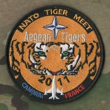 NTM NATO TIGER MEET VELCRO PATCH COLLECTIONS: 2011 Aegean Tigers CAMBRAI FRANCE