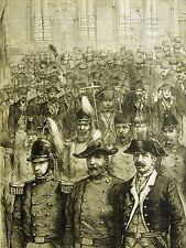 New York Stock Exchange ARTILLERY CO. of BOSTON - OLD GUARD 1883 Print Matted