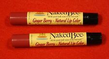 Naked Bee Ginger Berry Lip Color  (2 sticks) All the Good Stuff Organic