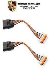 NEW Porsche Cayenne Pair Set of 2 Xenon Headlight Wiring Harnesses Genuine