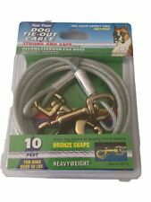 Four Paws Silver 10 Foot Heavy Weight Dog Tie out Cable