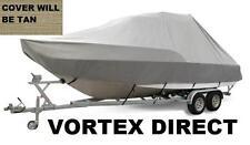 NEW VORTEX TAN/BEIGE 30' T-TOP CENTER CONSOLE BOAT COVER