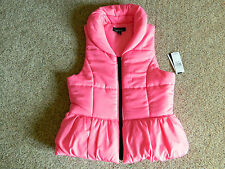 Amy Byer pink puffer vest girls Large