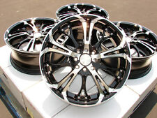"17"" Black Wheels Rims 4x100 4x114.3 Integra Aveo Cobalt Escort Civic Miata 4x100"