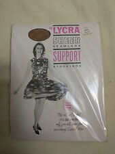 Stockings Beige Brown Size B  Vintage RHT Lycra 9.5 - 10 Support Old Stock New