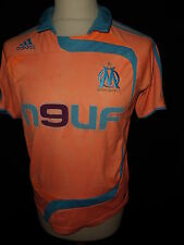 Maillot de football vintage OM Marseille Adidas Orange Taille 14 ans
