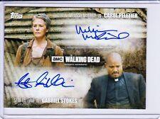 The walking dead saison 5 dual autograph card melissa mcbride seth gilliam 95/99