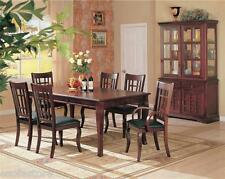 Formal Dining Room Dining Table Side Arm Chairs Set 7Pc Cherry Finish Furniture