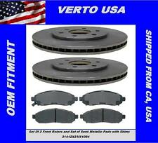 Set Of 2 Front Brake Rotors & Pads for Nissan Frontier 4WD, 2WD 6 Cylinders