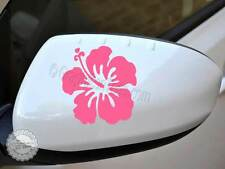 Hibiscus Flower Car Stickers, Wing Mirror, Girly Vinyl Car Graphic Decals