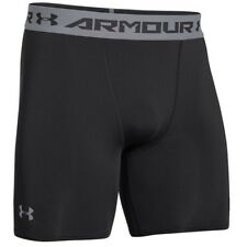Under Armour 1257470 Men's Black/Steel Heatgear Compression Shorts - 3X-Large