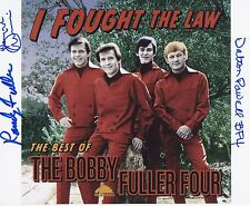 Bobby Fuller Four signed 8 x 10 photo Randy, Dewayne and Dalton Powell