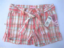 73% OFF! AUTH STAR RIDE GIRL'S BELTED ROLL-UP PLAID SHORTS SIZE 12 BNWT US$ 22