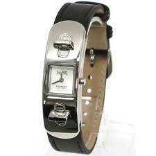 BRAND NEW COACH 14502222 SWAGGER BLACK LEATHER STRAP & STEEL CASE WOMEN'S WATCH