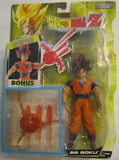 Dragon Ball Z Super Saiyan Goku SS Figure Jakks Pacific Red Hair Triple Energy