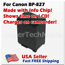 Battery for Canon BP-827 BP827 3400mAh Vixia M32 M300
