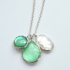 "New IPPOLITA 3 Charm Necklace, ""Belize"" Mint, Marina Green Blue 16-18""  $595"