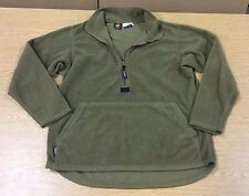 LARGE MILITARY USMC POLARTEC FLEECE HALF ZIP PULL OVER COYOTE BROWN PECKHAM USGI