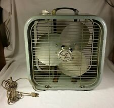 "Vintage Country Aire Lakewood 12"" Box Window Fan Electric Three Speed Model C-12"
