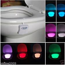 8 Colors LED Toilet Bathroom Human Motion Activated Seat Sensor Lamp Night B