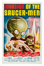 INVASION of the SAUCER MEN 1957 movie poster CREEPING horror teenagers 24X36