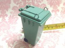 "Dollhouse Miniature Furniture Outdoor Green Trash Garbage Can H3.5"" S1:12"