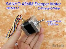 NEMA17 SANYO Schrittmotoren 2-phase 6-wire 42MM Stepper Motor 1.8 Degree 0.35N.m
