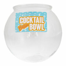 """Cocktail Fish Bowl 6"""" Plastic Fishbowl Drinking Games Party Globe Punch"""