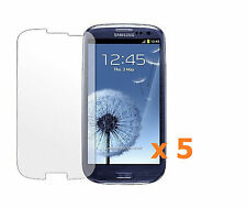 5 x Clear Invisible Screen Protector For Samsung Galaxy SIII S3 i9300/T999/L710
