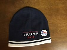 Donald Trump 2016 EMBROIDERED Navy/White  CAP HAT with free pin / button