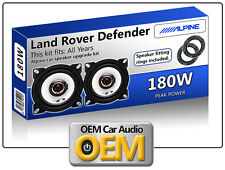 Land Rover Defender Front Dash speakers Alpine car speaker kit with Spacer Rings