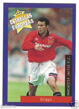 Rare '96 Panini Wales's EUROPEAN SUPER STAR Ryan Giggs with Manchester United