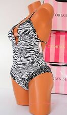 NWT Victoria's Secret 1 One Piece VS Swim Suit Racerback Padded Plunge Cheeky S