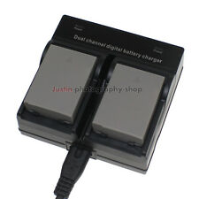 Dual Charger +2x Battery for Olympus BLN1 BCN-1 OM-D E-M5 MK II E-M1 EP5 PEN-F