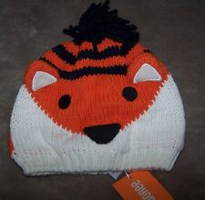 NWT Gymboree S'more Style Orange Fox Sweater Hat Fully lined Winter Warm 6-12 mo