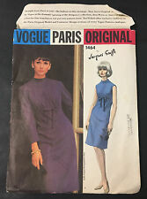 60's VTG VOGUE PARIS ORIGINAL One Piece Dress Jacques Griffe Pattern 1464 sz 10