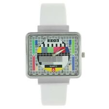 Reloj CARTA DE AJUSTE TV RETRO VINTAGE Blanco