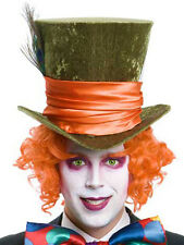 Fabulous Mad Hatter Orange Wig and Eyebrows Costume New Alice In Wonderland