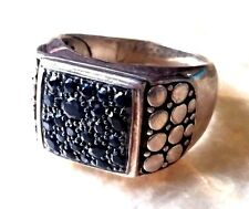 MENS JOHN HARDY .925 STERLING SILVER BLACK SAPPHIRE RING - $795  SIZE 11