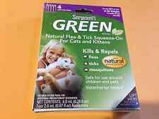Green Sergeant's Natural Flea & Tick Squeeze-on Cats & Kittens 4 Application