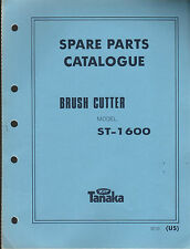 TANAKA BRUSH CUTTER MODEL ST-1600  PARTS MANUAL