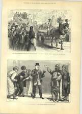 1881 George Stephenson Centenary Newcastle Procession Of Draught Horses And Wago