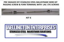 PRE SWAGED  D.I.Y STAINLESS STEEL  WIRE BALUSTRADE KIT