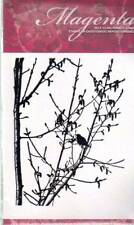 New Cling MAGENTA RUBBER STAMP Birds trees branches silhouette Free us ship