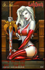 LADY DEATH JUDGMENT WAR #1 NAUGHTY BLACK METAL EDITION VARIANT #53/69 SIGNED