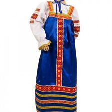 Russian folk Blue Dress and blouse for girls (5-6 yrs) Ethnic traditional dress