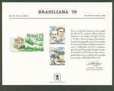 USSouvCard #SC63 MNH: BRASILIANA '79-US #C91-C92&Brazil#1295;Aviators -Lot#3/5