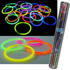 15 NEON GLOW GLO IN THE DARK STICKS BRACELETS HEN NIGHTS KIDS ADULTS PARTY BAGS